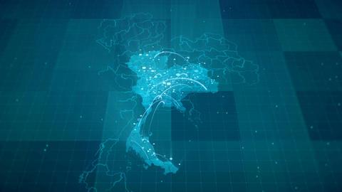 Thailand Map Globalization 4K Animation
