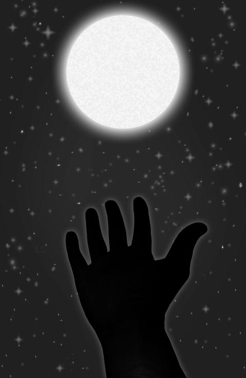 The hand and the moon Photo
