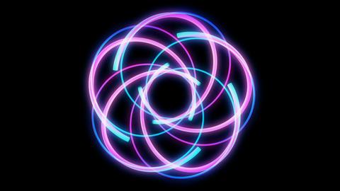 Glowing circular looping 3D geometric UI shape Animation