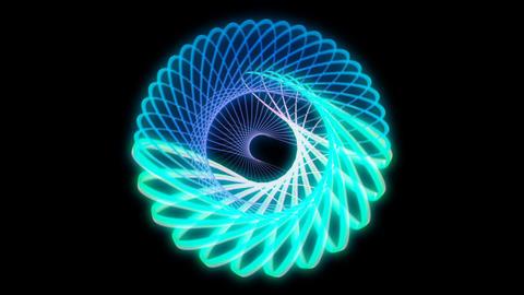 Glowing 3D geometric looping ellipses UI shape Animation