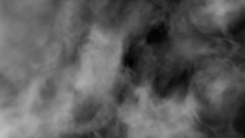 Flying Through the Fog 4k - Grayscale Smoke Slow Animation