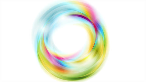 Colorful glowing shiny abstract circles video animation Animation