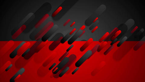 Red and black contrast tech corporate video animation Animation