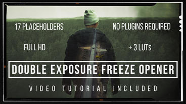Double Exposure Freeze Opener After Effects Template