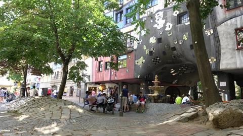 Hunderwasserhaus in Vienna Footage