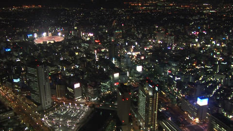 Night view of Yokohama Stock Video Footage