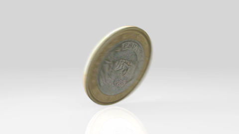 euro-coin-flip-01 Stock Video Footage