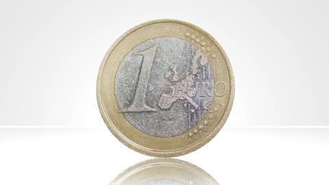 euro coin spain turn around 01 Stock Video Footage