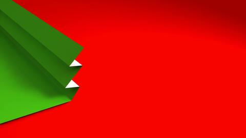 christmas tree origami 02 Stock Video Footage