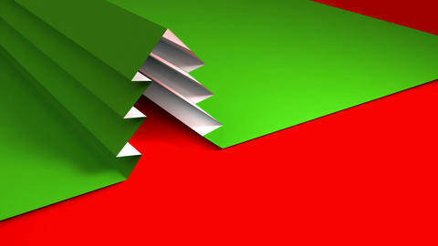 christmas tree origami 02 CG動画