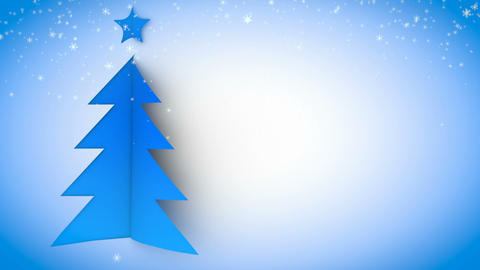 christmas tree paper curl snow 01 Stock Video Footage