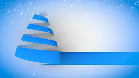 christmas tree paper curl snow 03 Stock Video Footage