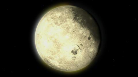 Moon evolution 01 Stock Video Footage