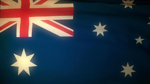 Flag Australia 04 Stock Video Footage