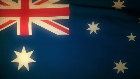 Flag Australia 04 Stock Video Footage