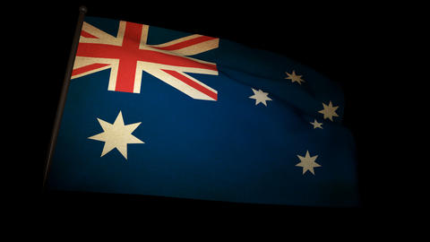 Flag Australia 01 Animation
