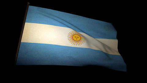 Flag Argentina 01 Stock Video Footage