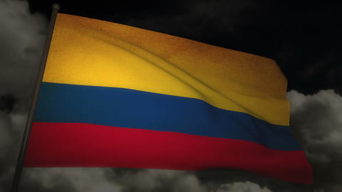 flag Colombia 02 Stock Video Footage
