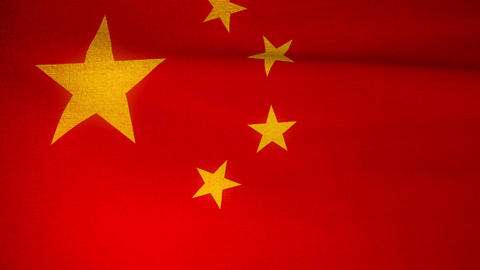 Flag China 04 Stock Video Footage