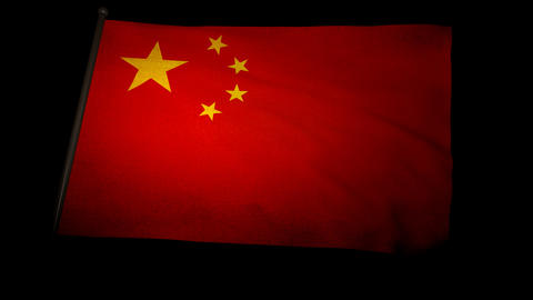 Flag China 01 Stock Video Footage