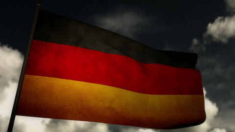 Flag Germany 02 Stock Video Footage