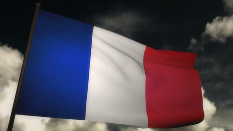 flag France 02 Stock Video Footage