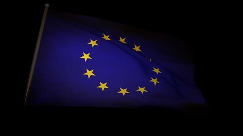 Flag Europe 01 Stock Video Footage