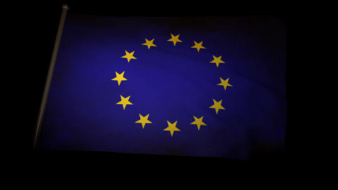 Flag Europe 01 Stock Video Footage
