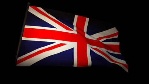 Flag England 01 Stock Video Footage