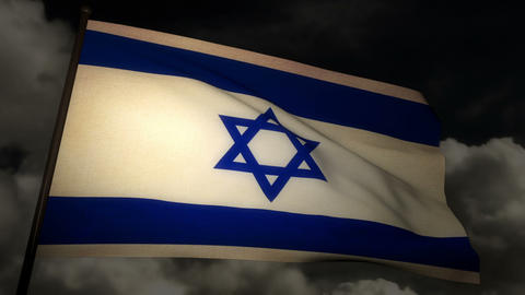 Flag Israel 02 Stock Video Footage