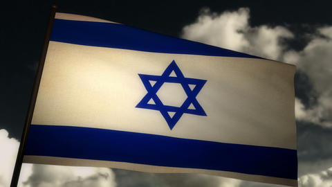 Flag Israel 02 Stock Video Footage