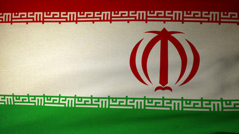 flag Iran 04 Stock Video Footage