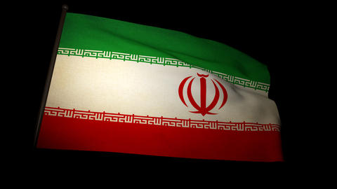 Flag Iran 01 Stock Video Footage