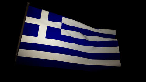 Flag Greece 01 Stock Video Footage