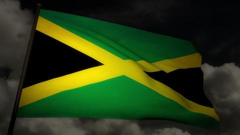 Flag Jamaica 02 Stock Video Footage