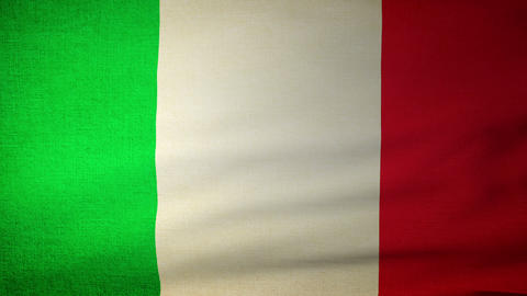 Flag Italy 04 Stock Video Footage