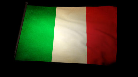 Flag Italy 01 Stock Video Footage