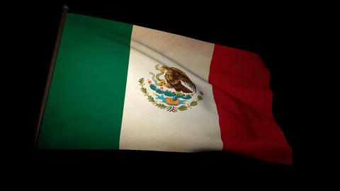Flag Mexico 01 Stock Video Footage