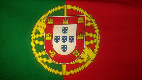 Flag Portugal 04 Stock Video Footage