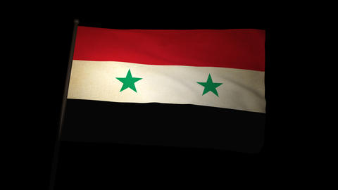 Flag Syria 01 Stock Video Footage