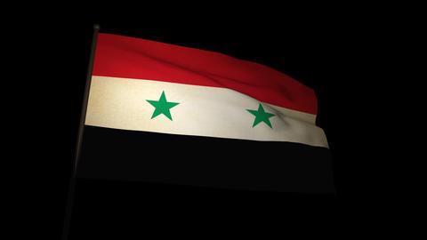 Flag Syria 01 Stock Video Footage
