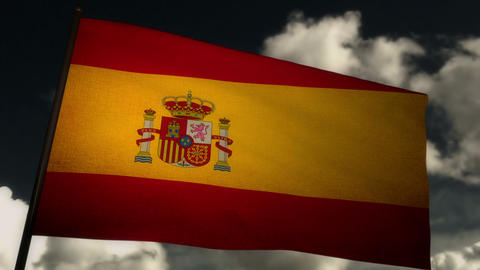Flag Spain 02 Stock Video Footage