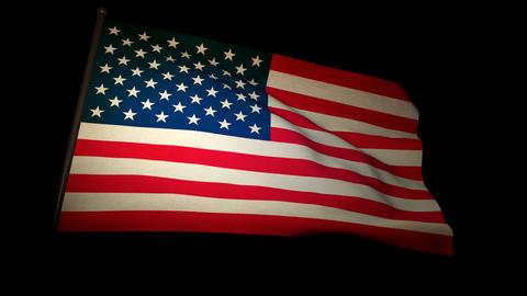 flag usa 01 Stock Video Footage