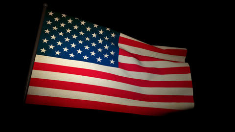 flag usa 01 Stock Video Footage
