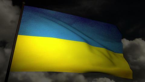 Flag Ukraine 02 Stock Video Footage
