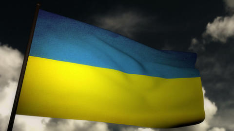 Flag Ukraine 02 Stock Video Footage