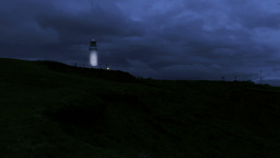 Light House At Night Stock Video Footage