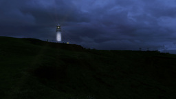Light House At Night Footage