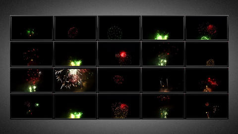 plasma TV wall fireworks Animation