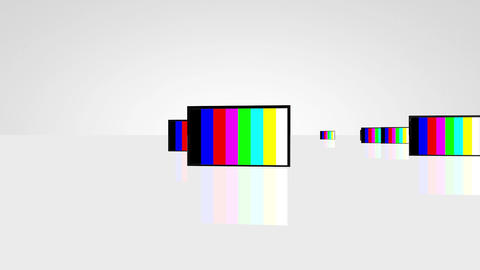 Plasma TV camera travelling 01 Stock Video Footage